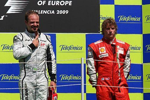 "Barrichello celebra Raikkonen por igualar recorde de largadas na F1: ""Bem vindo aos 322!"""