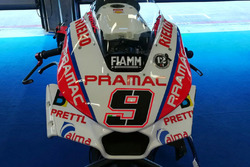 Danilo Petrucci, Pramac Racing, détails du carénage sur la moto