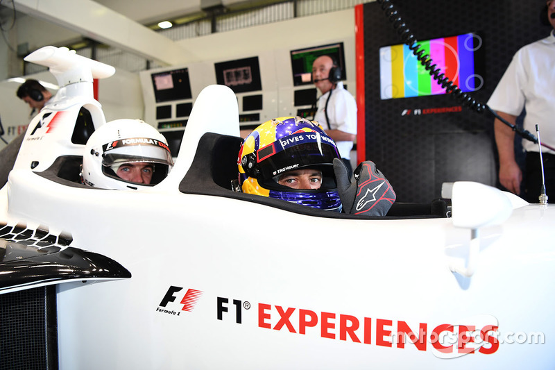 Patrick Friesacher, F1 Experiences 2-Seater driver AND F1 Experiences 2-Seater passenger Frankie Muniz, Actor