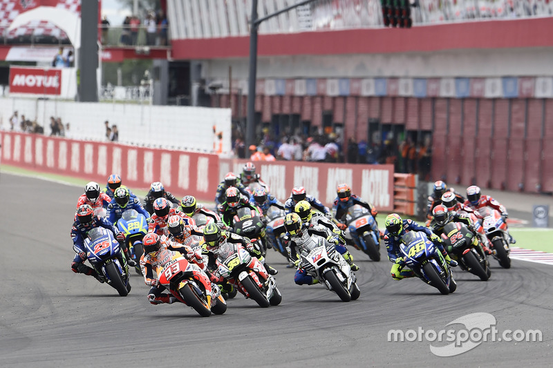 Start: Marc Marquez, Repsol Honda Team, leads