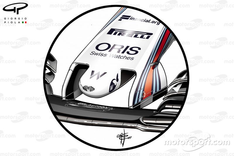 Vieja nariz de Williams FW40