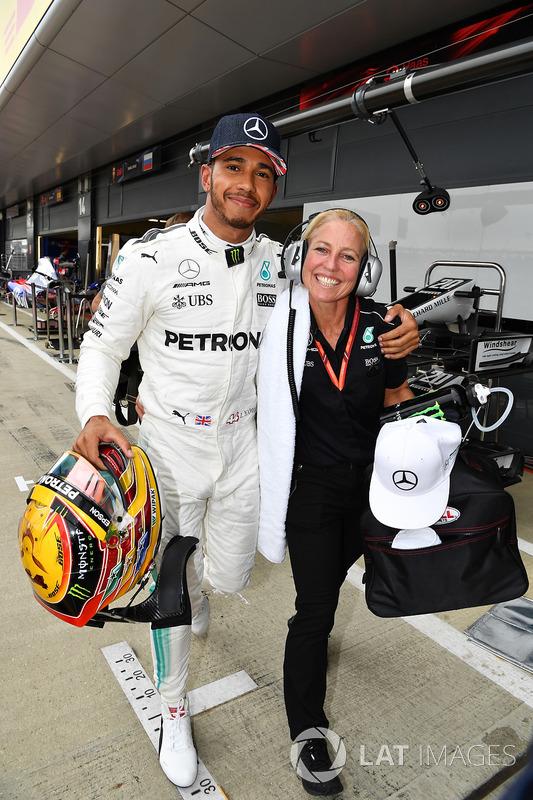 Polesitter Lewis Hamilton, Mercedes AMG F1