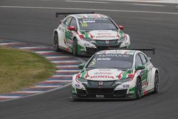 Norbert Michelisz, Honda Racing Team JAS, Tiago Monteiro, Honda Racing Team JAS, Honda Civic WTCC