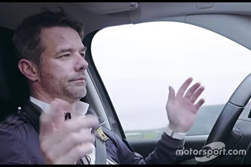 Sebastien Loeb, con el Citröen Grand C4 Picasso Autónomo