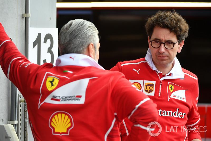 Керівник команди Ferrari Мауріціо Аррівабене, технічний директор Ferrari Маттіа Бінотто