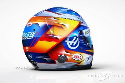 Le casque 2017 de Romain Grosjean