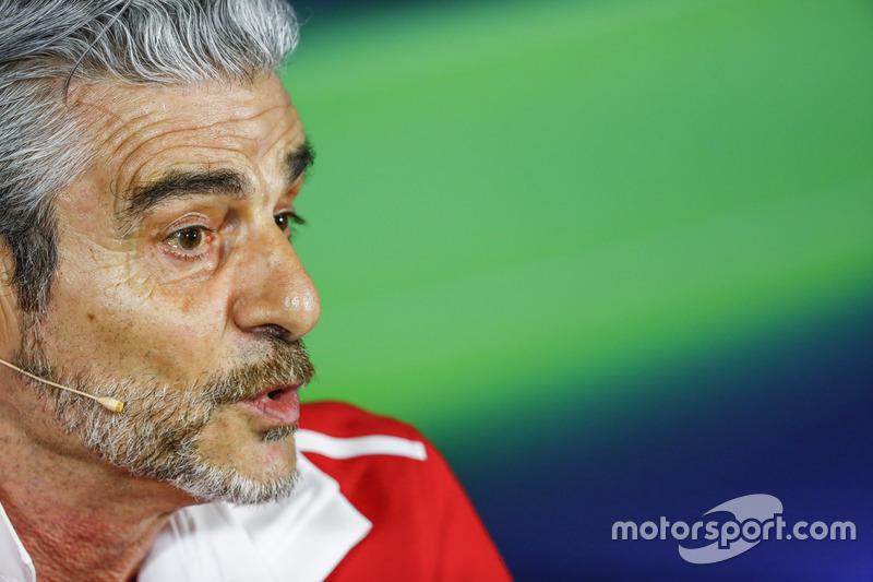 Pressekonferenz: Maurizio Arrivabene, Ferrari