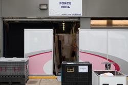 Force india F1 team pit garage