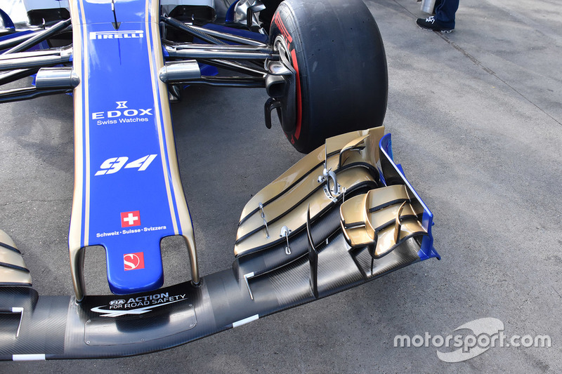 Sauber C36: Frontflügel