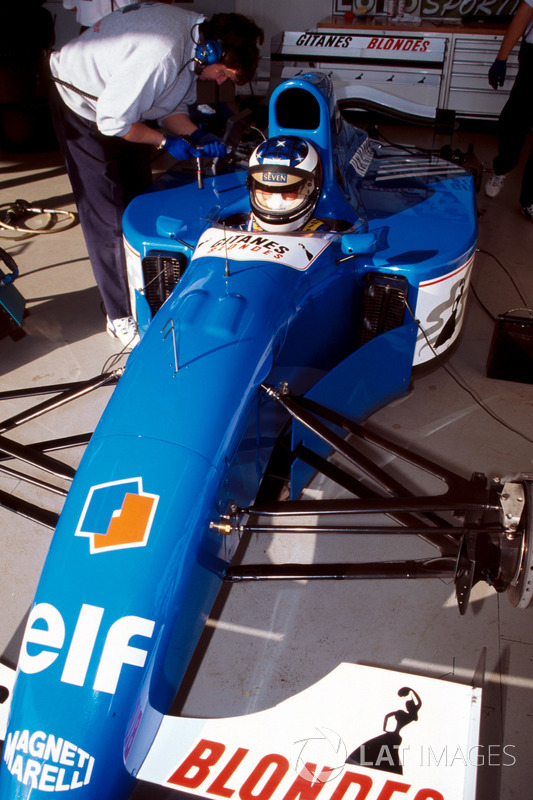 Preparations are made to the Ligier JS39B Renault that Michael Schumacher will test to evaluate the