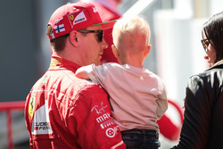 Kimi Raikkonen, Ferrari with his son Robin
