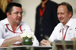 Eric Boullier, Racing Director, McLaren, Jonathan Neale, Managing Director, McLaren