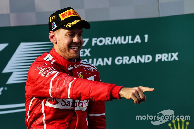 Podium: 1. Sebastian Vettel, Ferrari
