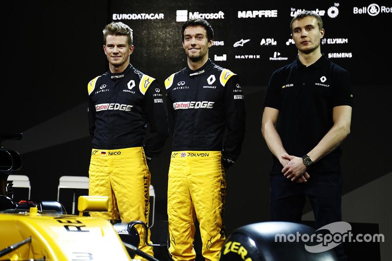 Nico Hülkenberg, Jolyon Palmer, Sergey Sirotkin