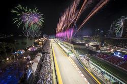 Fuochi d'artificio alla fine della gara