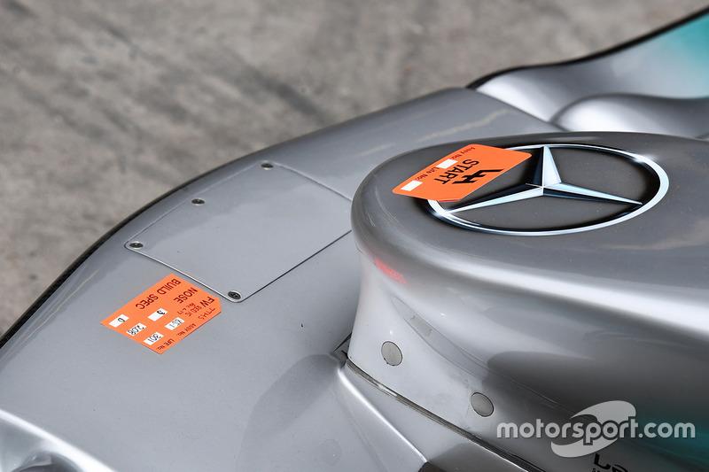 Mercedes F1 W08: Nase