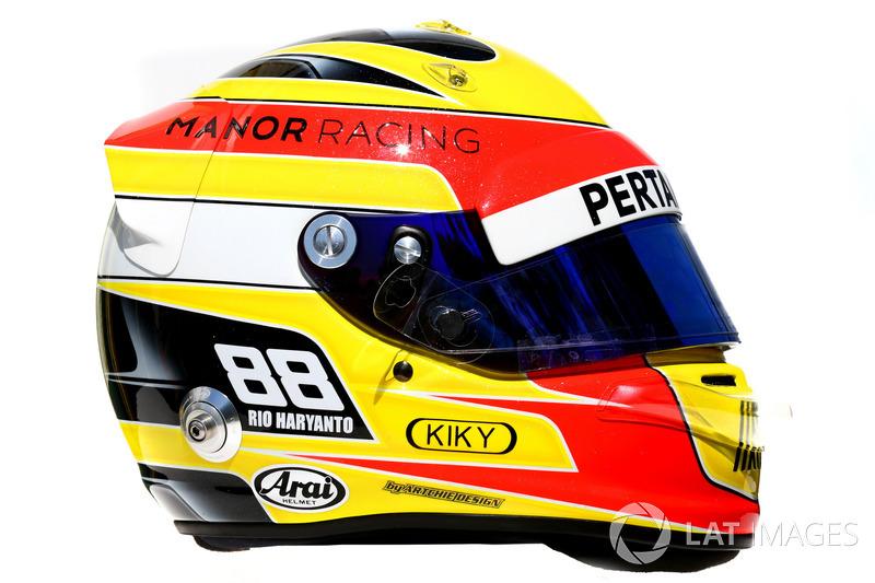 Helmet of Rio Haryanto, Manor Racing