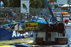Michael Schumacher,Benetton B194 Ford tras su accidente