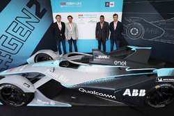 Founder & CEO of Formula E Alejandro Agag, His Royal Highness Prince Abdulaziz bin Turki Al Faisal Al Saud, His Royal Highness Prince Khaled Bin Sultan Bin Abdullah AlFaisal and Co-founder & Deputy CEO of Formula E Alberto Longo