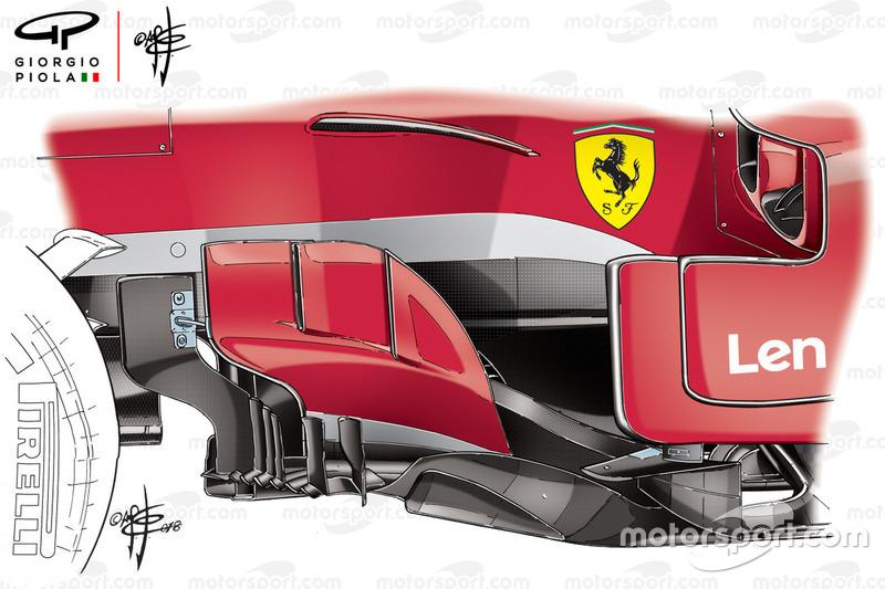 Bargeboard del Ferrari SF71H