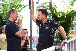 Martin Brundle, Sky TV and Christian Horner, Red Bull Racing Team Principal