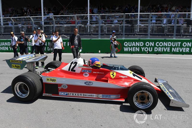 Jacques Villeneuve, drives his Fathers 1978 Canadian GP winning Ferrari 312T3