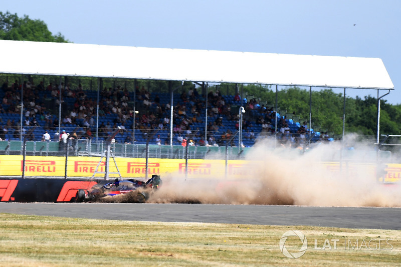 L'accident de Brendon Hartley, Scuderia Toro Rosso STR13