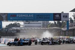 Sébastien Buemi, Renault e.Dams, at the start of the race.,