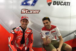 Casey Stoner and Michele Pirro