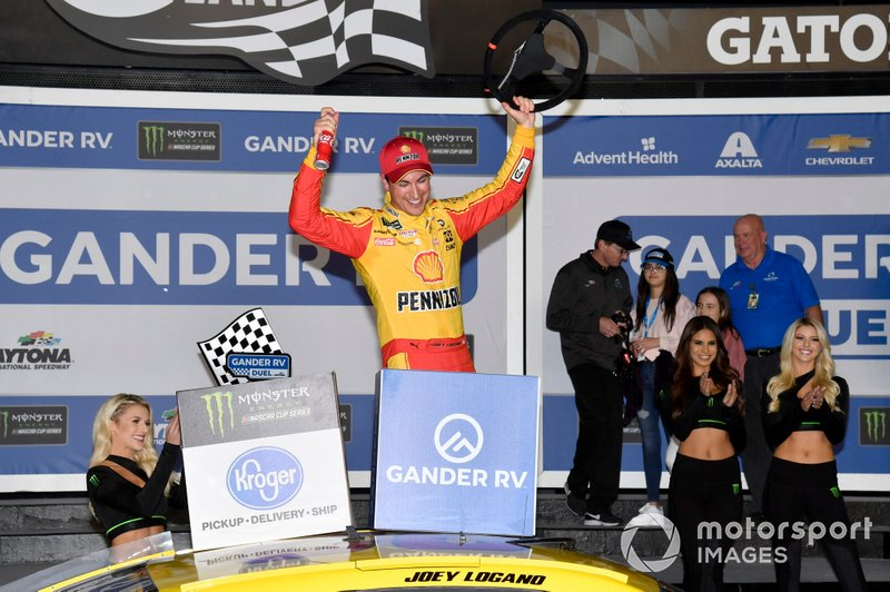 Ganador Joey Logano, Team Penske, Ford Mustang Shell Pennzoil