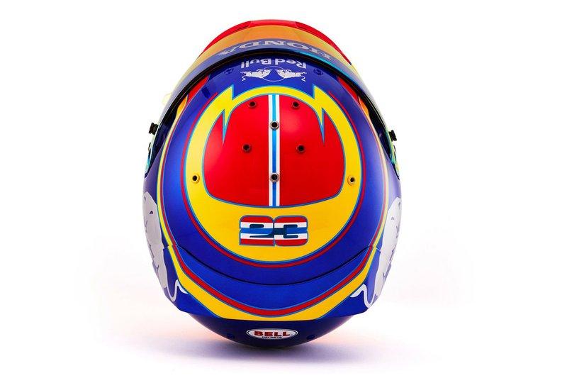 Il casco di Alex Albon, Scuderia Toro Rosso