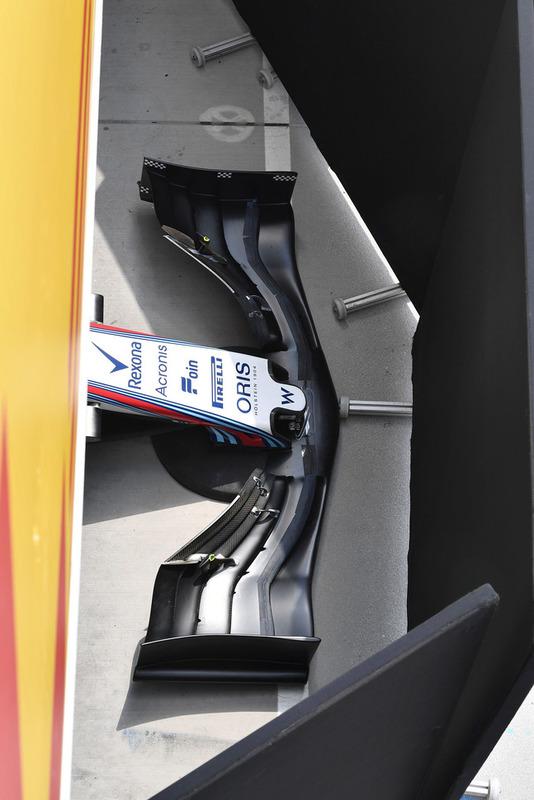 Morro y alerón delantero del Williams FW41