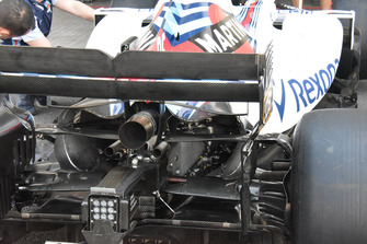 Williams FW41 achterkant detail