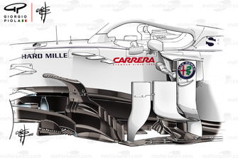Sauber C39 bargeboards