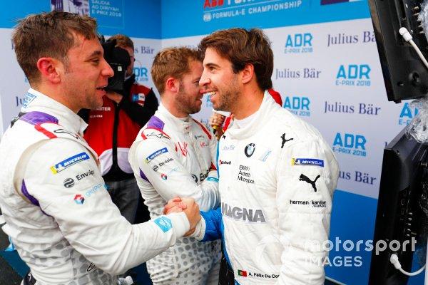 Robin Frijns, Envision Virgin Racing y Antonio Felix da Costa, BMW I Andretti Motorsports