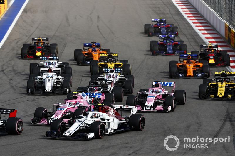 Ahí empezó el gran resultado de Leclerc, que acabaría séptimo