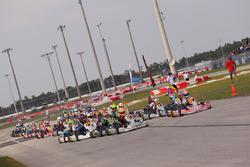Rotax Junior start led by Michael d'Orlando and Mathias Ramirez