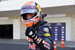 Max Verstappen, Red Bull Racing celebrates qualifying in third position on the grid
