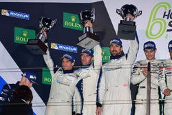 Podium GTE AM: second place #78 KCMG Porsche 911 RSR: Christian Ried, Wolf Henzler, Joël Camathias