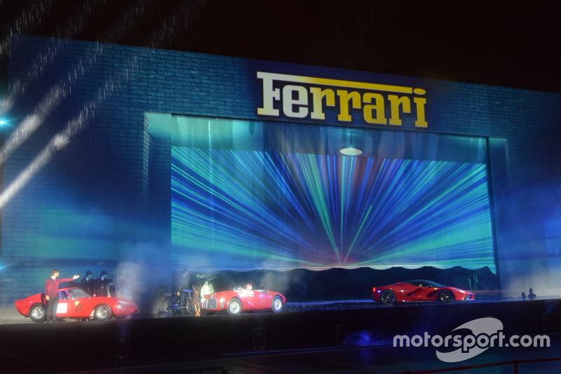Ferrari 125 S, Ferrari 250 GTO та Ferrari LaFerrari на Шоу 70-річчя Ferrari