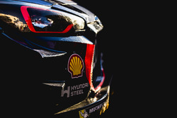 The car of Thierry Neuville, Nicolas Gilsoul, Hyundai Motorsport, Hyundai i20 Coupe WRC