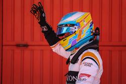 Fernando Alonso, McLaren celebra en parc ferme