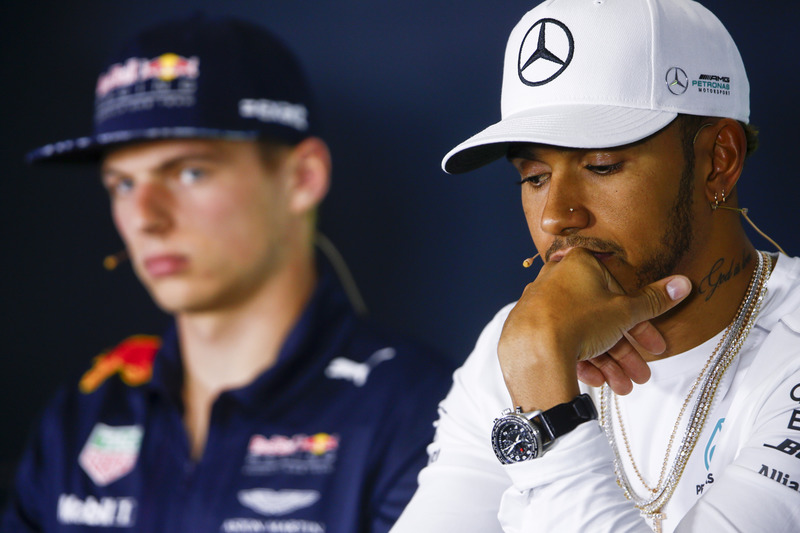 Max Verstappen, Red Bull Racing, Lewis Hamilton, Mercedes AMG F1, in the press conference