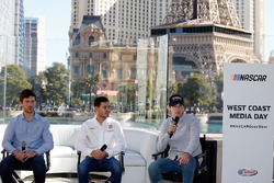 Drivers Daniel Suarez, Kyle Larson and Ryan Blaney