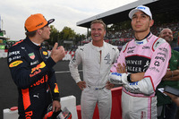Max Verstappen, Red Bull Racing, David Coulthard, Channel Four TV Commentator and Esteban Ocon, Sahara Force India F1