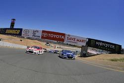 Kyle Larson, Chip Ganassi Racing Chevrolet, Jamie McMurray, Chip Ganassi Racing Chevrolet