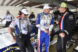 Trent Owens, Chris Buescher, JTG Daugherty Racing Chevrolet, Michael McDowell, Leavine Family Racing Chevrolet