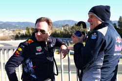 Christian Horner, Red Bull Racing Team Principal with Franz Tost, Scuderia Toro Rosso Team Principal