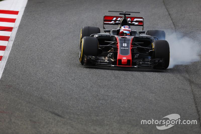 16º Romain Grosjean, Haas F1 VF-17, 1m21.110s (ultrablandos)