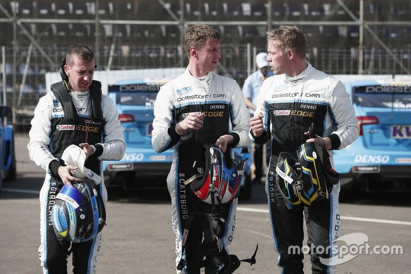 Nestor Girolami, Polestar Cyan Racing, Volvo S60 Polestar TC1; Nicky Catsburg, Polestar Cyan Racing,